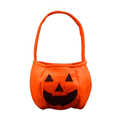 efel Dekoration Halloween Kürbis Geschenk Taschen Kinder Süßigkeiten Taschen ()