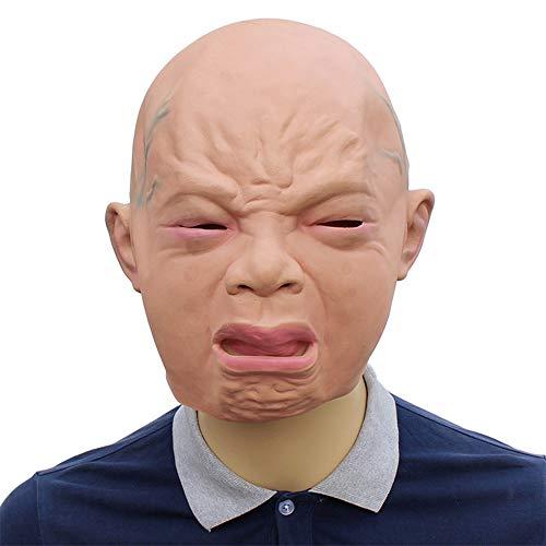 Halloween Kostüm Party Baby Maske, Neuheit Latex Creepy Cry Baby Gesicht Kopf Maske Geeignet für Halloween Cosplay Kostüm Party, Maskerade, Weihnachten, - Baby Gesicht Maske Kostüm