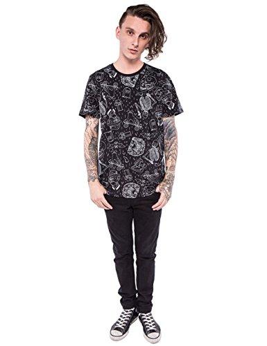 Iron Fist - T-shirt - Uni - Col Ras Du Cou - Manches Courtes - Homme Noir noir X-Large Black