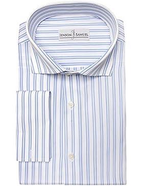 Da uomo 100% cotone Servizio di posate per biglietti da visita Cutaway colletto taglio regolare-shirt doppio Gemelli...