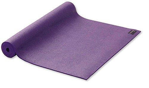 Yogamatte Studio extrabreit Gymnastikmatte lila Pilatesmatte 80x183cm