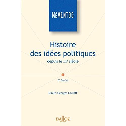 Histoire des idées politiques depuis le XIXe siècle - 9e éd.: Mémentos