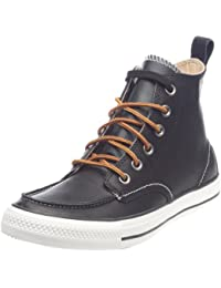 Converse CONVERSE CT Classic Boot Hi Chocolate All Star Classic - Zapatillas de cuero para hombre, color negro, talla 44,5