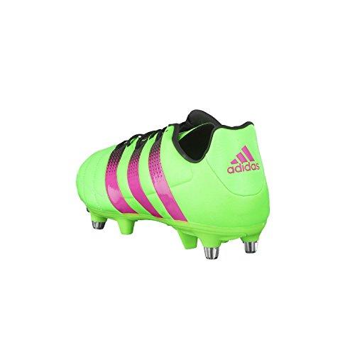 adidas Herren Ace 16.3 Sg Leather Fußballschuhe Grün / Pink / Schwarz (Versol / Rosimp / Negbas)