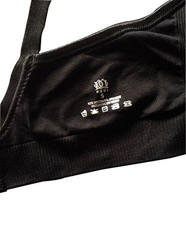 KUCI® Schwangerschafts BH nathloser gefütterter Push-up Still-BH ohne Bügel Nude+Black/2Pack