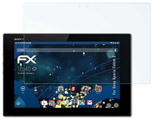 Sony Xperia Tablet Z Folie - 2 x atFoliX FX-Shock-Clear stoßabsorbierende ultraklare Panzerfolie Displayschutzfolie