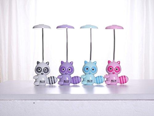 HRMAOI®,LED, wiederaufladbar, kreativ, Augenschutz Schreibtischlampe, Arbeitsleuchte, Lampe Cartoon Eichhörnchen, grau -