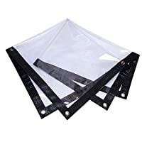 Ziligengsheng Tarpaulin Tarp Ground Sheet Covers Transparent with Eyelets PVC Coating Durable Waterproof, Customized (Color : CLEAR, Size : 80X70CM)
