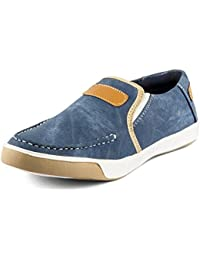 Fucasso Men's Smart Fit Blue Denim Casual Slip On Shoes