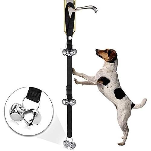 regalos tus mascotas mas kawaii GOOTRADES Timbre de Puerta Tinkle Bells Dispositivo con un Clicker para Mascota Perritos Gatos Cachorro Buscar Pista Allanamiento Universal Ajustable de Nylon