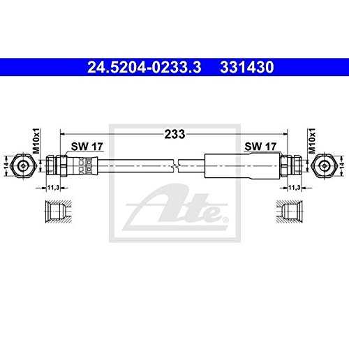 ATE - TEVES 24.5204-0233.3 Bremsschlauch
