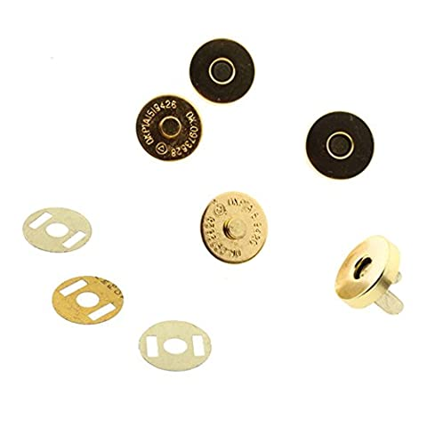 10 pcs GOLD Magnetic Snap Fasteners Clasps Buttons for Handbag Bags 18x14mm