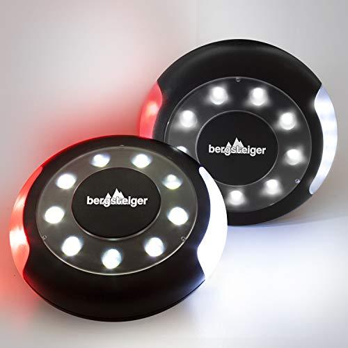 Bergsteiger Kinderwagenlicht, Buggylicht, 2 Kinderwagenlichter Set inkl. Batterien, 16 LED pro Licht, wasserdicht, passend für alle Kinderwagen