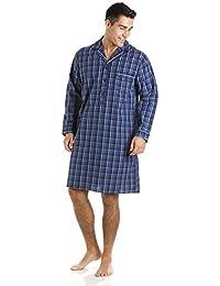 Haigman Mens 100% Coton Pyjamas - À Rayures À Carreaux - Tailles + Couleurs - Bleu, Homme, X-Large
