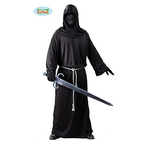 Dunkler Krieger Sensenmann Kostüm für Herren Gr. M/L, Größe:L (Tod Krieger Kostüm)