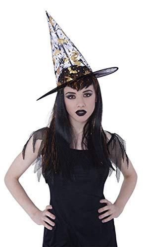 Piccoli monelli Pequeños Perros Sombrero Bruja niña Calabaza Double Face Disfraz Halloween Negro