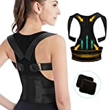 Tencoz - Corrección de Postura Bust Ajustable, Apoyo Espinal Superior Unisex para Espalda, Hombros y Cuello Alivio del Dolor, L
