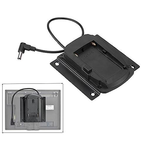 Andoer Batterie Adapter-Grundplatte für Lilliput Monitore für FEELWORLD Monitoren kompatibel für Sony NP-F970 F550 F770 F970 F960 F750