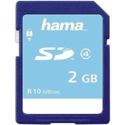 Hama Carte mémoire Photo (SD pour photo / Classe 4, 2 GB - 10 MB/s) Bleu