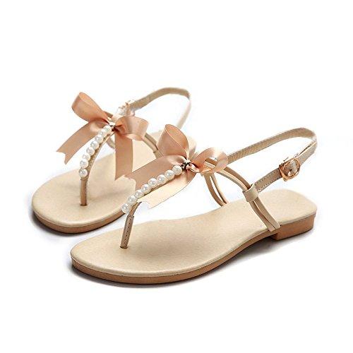 Scarpe Donna Estive - LATH.PIN Casual Infradito con Perlina Arco Pantofole Boemia Dolci Sandali Flat