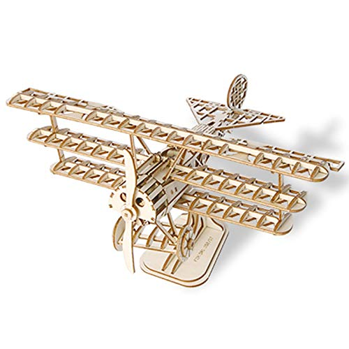 GQQ Aus Holz Kamera Flugzeuge 3D Versammlung Puzzle,DIY Kreativ Modell Dekoration Geschenk,Airplane