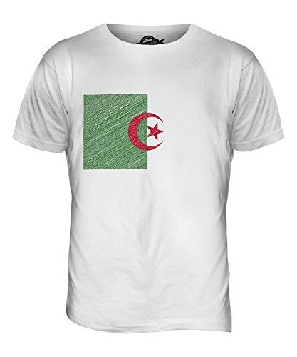 CandyMix Algerien Kritzelte Flagge Herren T Shirt Weiß