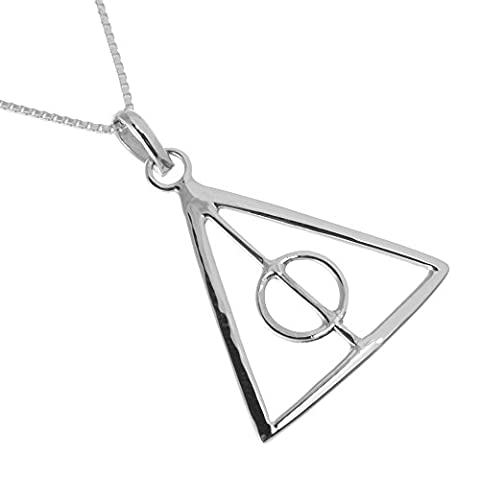 Sterling Silber Schmuck: Geometric Triangle Anhänger Design in Harry Potter
