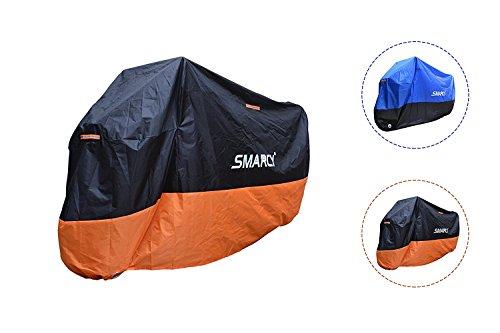 Smarcy Funda Protector para Moto, Cubierta para Moto / Motocicleta Resistente al Agua a Prueba de UV, Color Nanranja / Negro XXXL