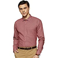 Park Avenue Dark Red Slim Fit Cotton Shirt