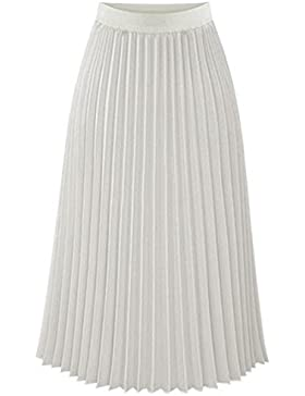 Cintura faldas largas faldas primavera las mujeres en slim falda plisada de gasa vestido de mujer , xl