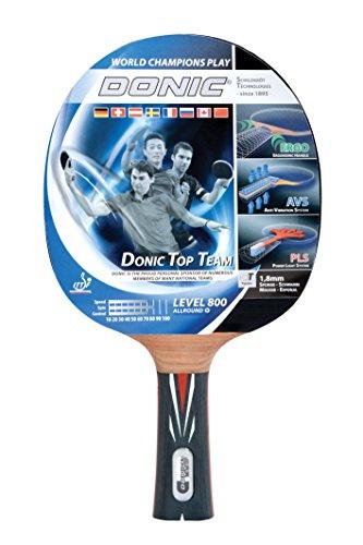 Donic-Schildkröt Tischtennis Schläger Top Teams 800 mit AVS Technologie und PLS Eego Griff, Holz/Natur, One Size, 754198