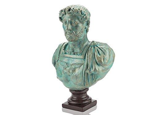 Hadrian bronzierte römische Kaiser-Büste - Forum Traiani - Römischer Herrscher (Gladiator Statue)