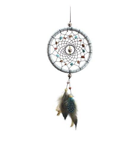 LifeUp Sogni d'oro- Acchiappasogni con Piume Sogni d'oro,Decorazione Auto Casa Giardino, Dream Catcher Indiano Rosa 42*11cm - Rosa Dreamcatcher