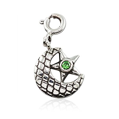 Pendant in Pure 925 Silver   fourseven Star and Crescent Charm for...