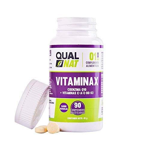 Multivitaminas con vitamina D3, vitamina C, vitamina E, vitamina A y vitamina B6 para ayudar al funcionamiento de nuestro cuerpo – 90 comprimidos masticables sabor naranja para un consumo más fácil