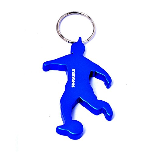 munkees Schlüsselanhänger Fußballer mit Flaschenöffner, Blau, 34906