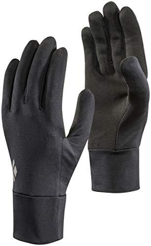 Black Diamond Lightweight Screentap Handschuhe Touchscreen geeignet / Warmer, leichter Allround Handschuh für Skitouren, zum Laufen oder Wandern / Unisex, Black, Größe: XL