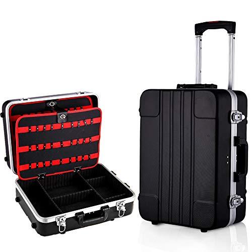 Voluker Caja de herramientas vacía,Maletín de herramientas móvil,33 x 19...