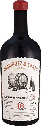 Tempranillo Whisky-Fass D.O. | Rodriguez Sanzo | Spanien-Toro | (1x 0,75l) Rotwein-trocken