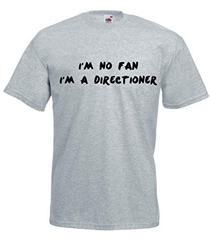 Settantallora - T-shirt Maglietta J488 I'm Not Fan I'm Directioner Grigio