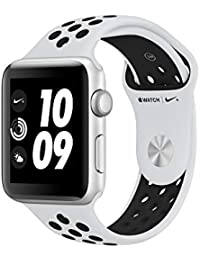 Apple Watch Nike+, 42 mm, GPS, Aluminium Gehäuse, Silber mit Nike Sportband, Pure Platinum/Schwarz, 2017