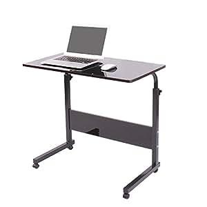 soges h henverstellbar laptoptisch 80 cm notebooktisch f r bett und sofa betttisch. Black Bedroom Furniture Sets. Home Design Ideas