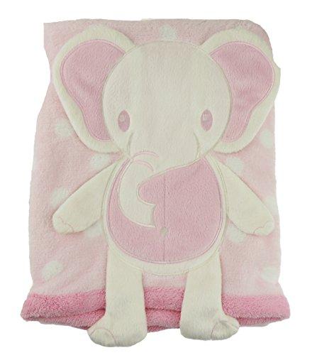 (Baby Mädchen Jungen sehr weiches Fleece 3D Ohren Decke Wrap Tröster Gr. Einheitsgröße, elefant)