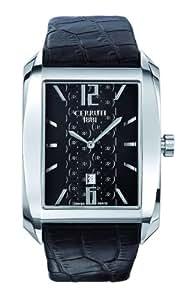 Cerruti 1881 - CRB015A222B - Montre Homme - Quartz - Analogique - Bracelet Cuir Noir
