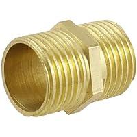 Sourcingmap a13030600ux0933 - Tubo pneumatico in ottone 1,27 centimetri a 1,27 centimetri maschio npt npt m / m allen equivalente bandiera ugello uk