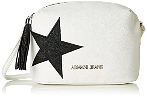 Armani Jeans Women's 9221877P760 Baguette Handbag white Weiß (BIANCO 00010)