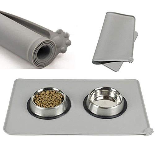Estera tazón fuente gato perro silicón, cojín agua