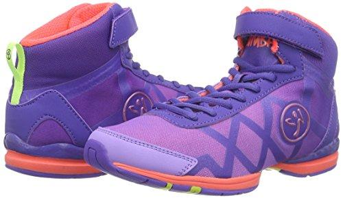 Zumba Footwear Zumba Flex II Remix High, Damen Hallenschuhe, Violett (Purple/Neon Orange), 38.5 EU -