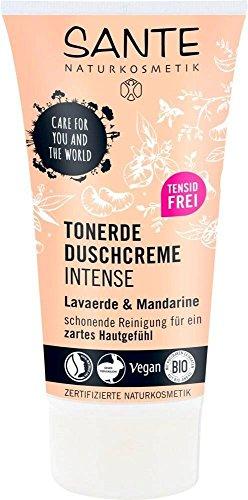 SANTE - Tonerde Duschcreme INTENSE - Tensidfrei - Auch für empfindliche Haut - Für den täglichen Gebrauch - Reinigt sanft und gründlich - 150 ml