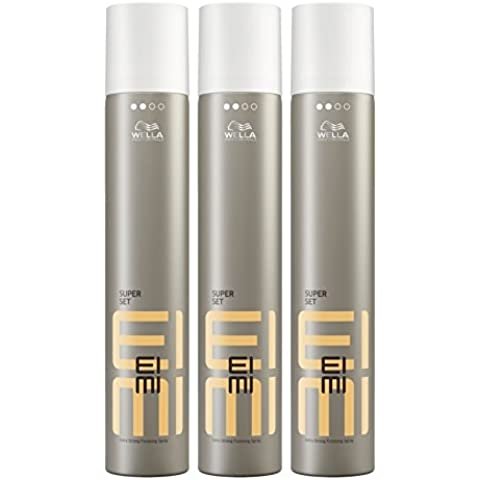 Wella Eimi Super Set Spray per capelli extra forte 3 x 500 ml Styling Hair Spray Finishing Spray